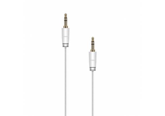 Аудио-кабель JACK  3,5мм/белый/1м