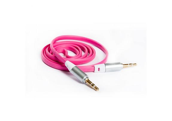 Аудио-кабель JACK  3,5мм/розов/1м