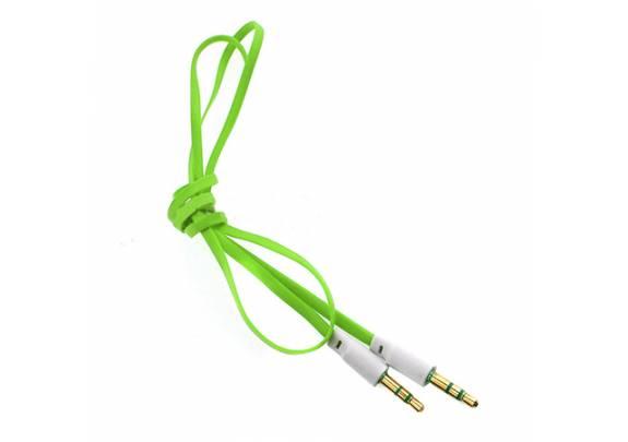 Аудио-кабель JACK  3,5мм/зел/1м