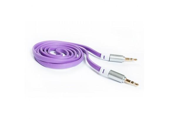 Аудио-кабель JACK  3,5мм/фиолет/1м