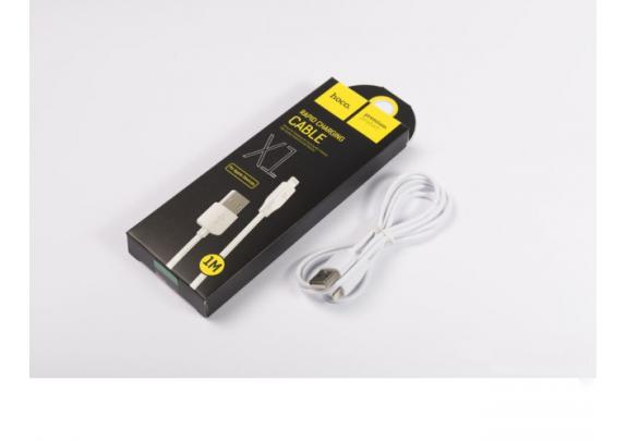 Дата-кабель iPhone 5/6/7/8 /X HOCO X1 1м/белый