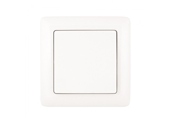 Выкл. 1-кл Валери с/у 10А 220В белый подсвет B0121