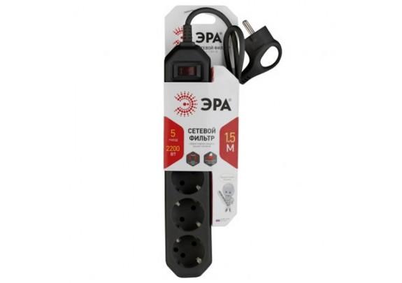 Сетевой фильтр ЭРА USF5es-5m-B/выкл/5гн/5м/чер
