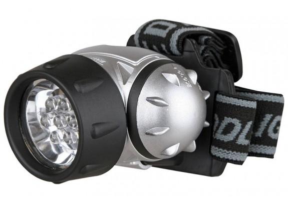 Фонарь Ultra Flash LED5351(налоб, мет, 7LED,3xAAA)