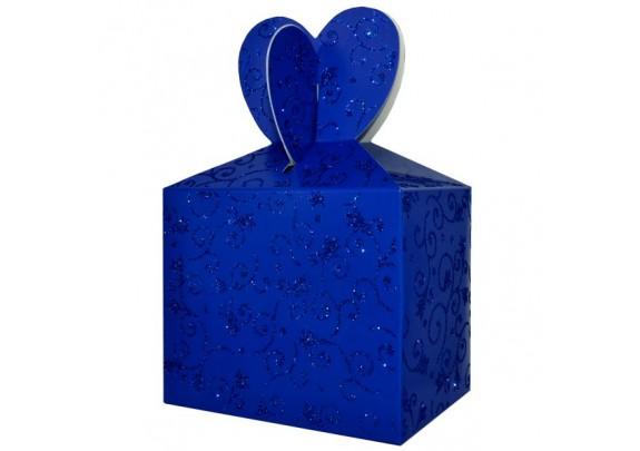 Коробка 10774-1B Синяя/блёстки