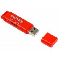 Картридер Smartbuy MicroSD, красн (SBR-715-R)