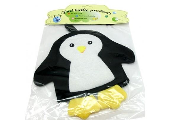Варежка-мочалка M50 Пингвин