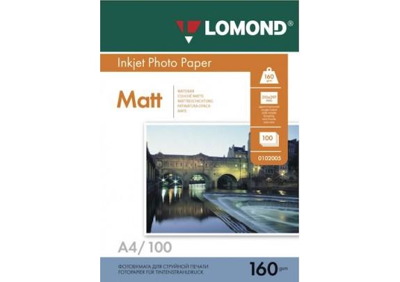 Lomond A4 160г/м2  100л матовая  0102005