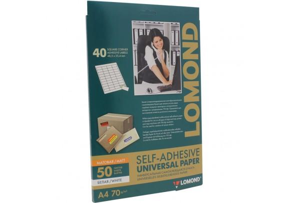 Lomond A4 Наклейка A4/50/1ЛИСТ