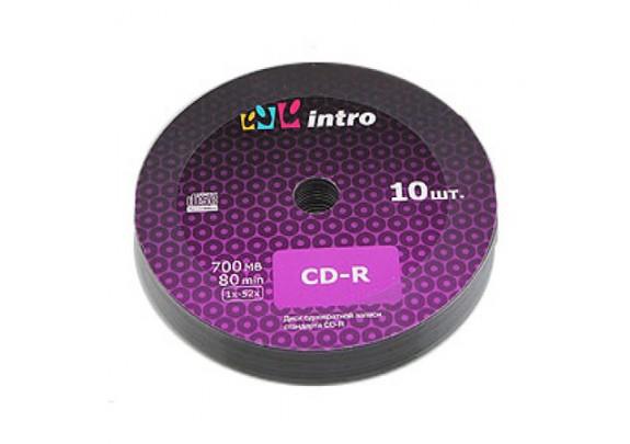 диск CD-R Intro 700 Mb/52x/Bl/Print/100шт