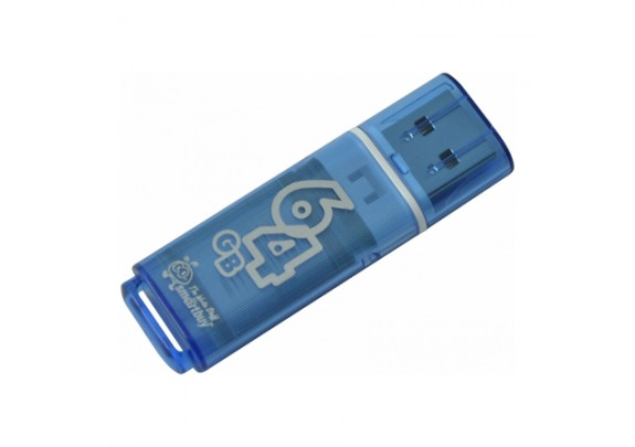 Флэш-драйв Smart Buy 64Gb Glossy Series Blue