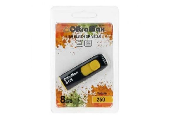 Флэш-драйв 8GB OltraMax 250 желтый