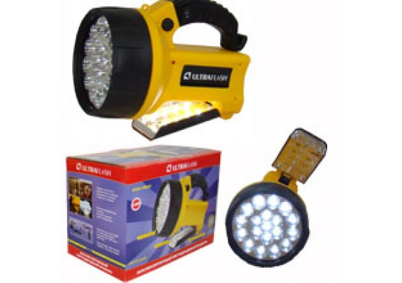 Фонарь Ultra Flash 3712 LED (19 LED,акум,220В/12В)