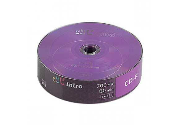 диск CD-R Intro 700 Mb/52x/Shrink/25шт
