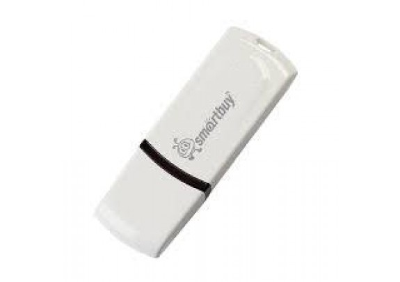 Флэш накопитель Smart Buy 8Gb Paean White