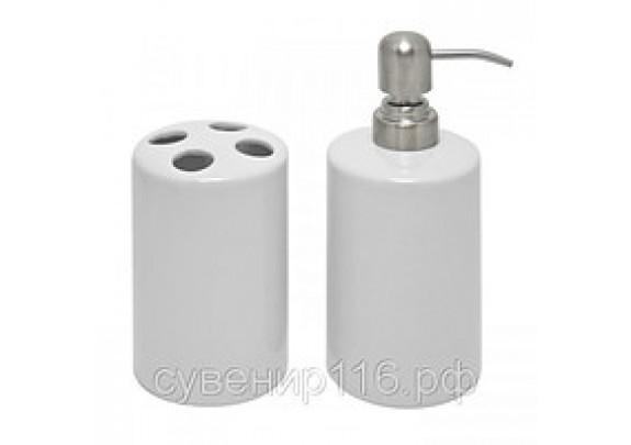 Набор д/ванной Подставка д/зуб/щеток+емкость д/жид