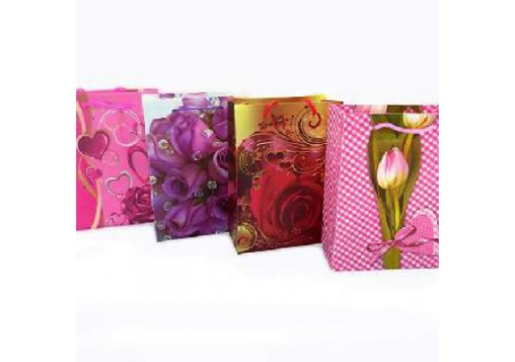 Пакет 100 Цветы/пластик/12x17x5