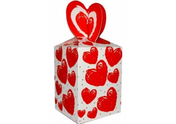 Коробка 125 Сердечки-1  9*12*9см/21см