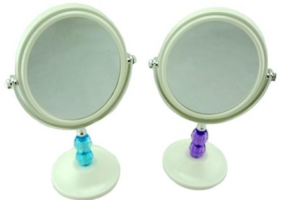Зеркало Настольное QS-62/пластик/круг/белое