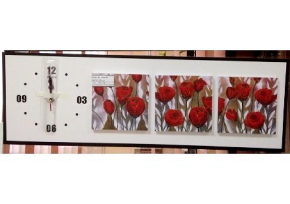 Часы FC-C145  МДФ/стекло/25*75см