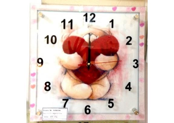 Часы FC-B045  МДФ/стекло/25*76см