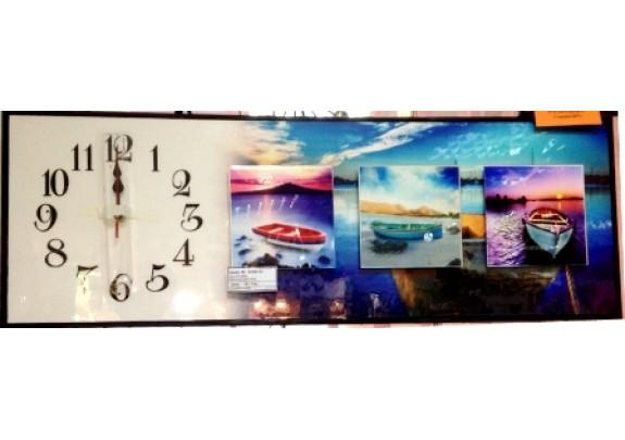 Часы FC-B044  МДФ/стекло/25*76см
