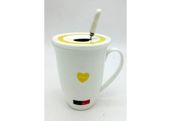 Кружка SJ933-2 LOVE/ложка/фаянс