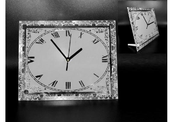 Часы стекло BL-42 зеркальные/стекло/18,5*23см