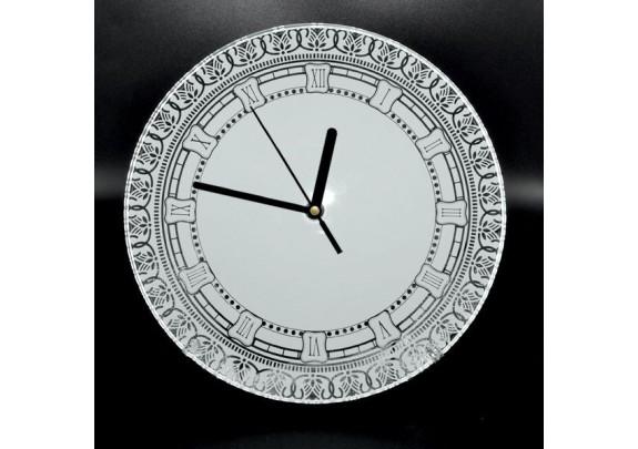 Часы стекло BL-44 стекло/зеркальные/круг/20см