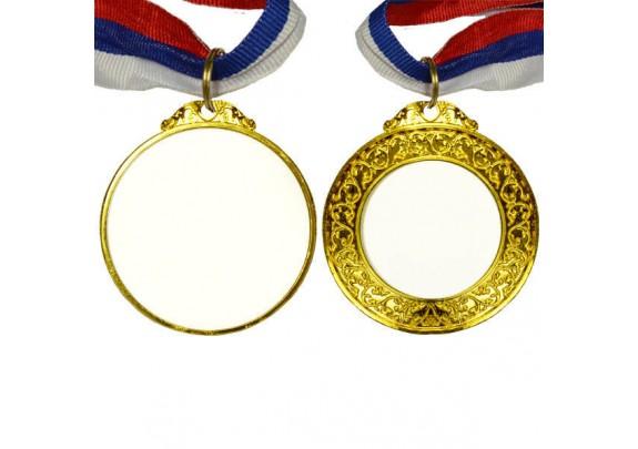 Медаль P0927 ЗОЛОТО/двух сторон/65мм/вставка 42*40