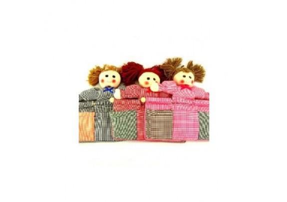 Панно настенное Кукла/35146-8/кармашки/ткань